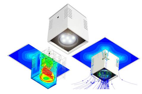 大功率LED灯具散热的优化设计